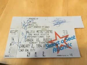 1994 Signed Olympic Winter Games Hockey Ticket Stub