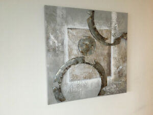 Beautiful painting with metal accents