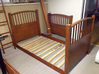 Solid Wooden Twin Bunk Beds