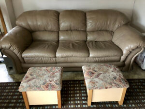 Premium all leather couch.