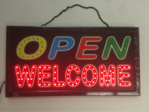 $19.99 Led Open Sign Electric on/off Board flash Open Sign