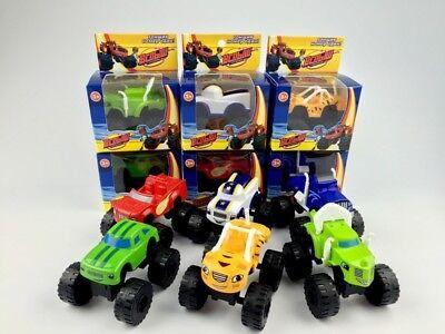 6Pcs/set Blaze and the Monster Machines Vehicles Toys Racer Cars Trucks for Kids (Monster Machine)