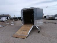 2015 Mission Trailers 8.5X12'  2 Place Aluminum Enclosed Sled