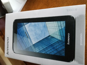 "LENOVA TABLET 7"" 512MB MEMORY 16 GB STORAGE. ANDROID OS. $70."