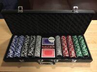 500 piece poker set £75 ono.