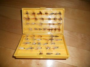 Coffre a mouches,Compac,50 mouches, fly fishing box