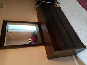 Long dresser with mirror - great condition!
