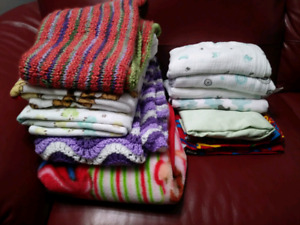 Baby blankets, crib, cool + warm LOT SALE $40 TAKES ALL