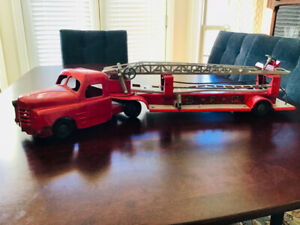 1940s or 50s Metal Fire Truck