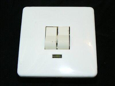Old Switch Flush Series Switch Flush-Mounted Light Switch, Art Deco Loft + Lamp