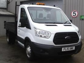 Ford Transit 2.2 Tdci 125Ps SINGLE CAB TIPPER DIESEL MANUAL WHITE (2015)