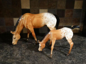 Breyer model horses - Clara and Mae