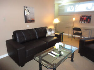 Completely furnished 2 bedroom basement suite!