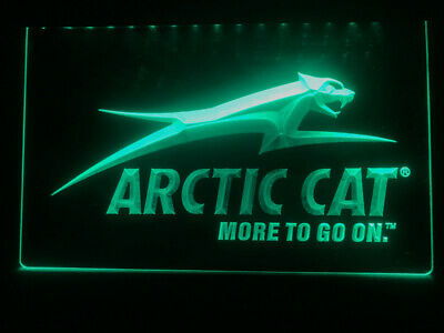 Arctic Cat Snowmobiles Logo LED Neon Light Sign gift decor club pub size 8x12
