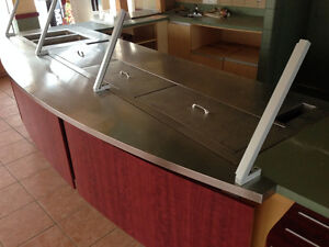 Cold Prep Table with Built In Heat Table