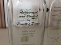 Collectable Glass Milk Bottles