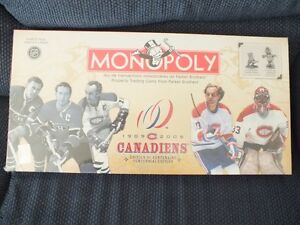 MONOPOLY MONTREAL CANADIENS HOCKEY CENTENNIAL COLLECTORS EDITION