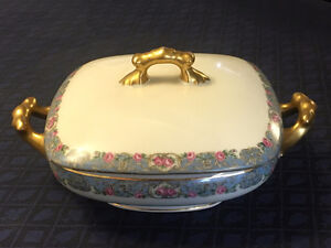 Limoges France Entree dish with lid