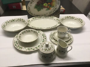 43 piece Christmas dinner set by 'Potter &Smith' Ivory Holly.