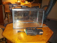 10G Tank with Lid, Light & Filter & More!  ALMOST NEW!