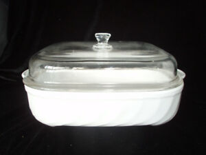 "LARGE ""ARCOFLAM"" MADE IN FRANCE CASSEROLE DISH, COOKWARE"