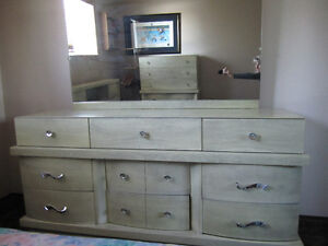 BEDROOM SET ( DRESSERS AND HEADBOARD)