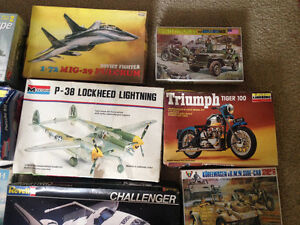 16 model kits -6 sealed from 70s-80s