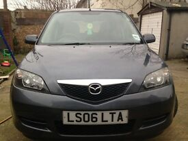 06 MODEL MAZDA 2 MANUAL 1.4 LONG MOT EXCELLENT CONDITION/DRIVE SPOT ON