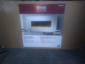 HD Collection 36in Wall Mount Electric Fireplace  Brand New
