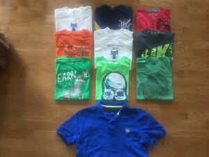 Lot of 10 Boys T-shirts ( Size Large 14/16 )