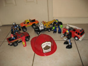 Fire Rescue Team Play Set / SOS Station Play Set/ Fire Trucks