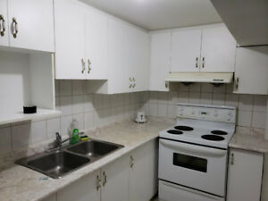 Bright spacious basement apartment  semi furnished near UTSC