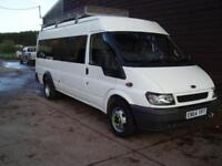 2005 FORD TRANSIT LWB 17 SEATER MINI BUS DIRECT FROM COUNCIL 83,000 MILES ONLY
