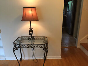 Wrought Iron Hall Table Set $40