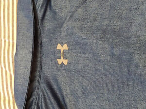 Mens Blue Under Armour golf shirt - worn once - size large - $8
