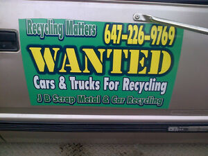 CAR RECYCLING TRUCK RECYCLING $100 TO $1000