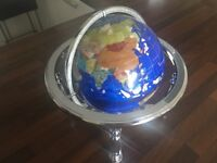 Table top Gem Stone Globe with Compass
