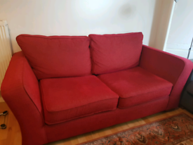 Red 3 seat sofa bed