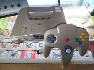 (SOLD) Gold N64 Complete with matching Controller For Sale