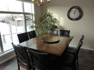 8-chair pub height dining room set