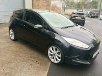 14 FIESTA 1.6 TDCI SPORT VAN IN BLACK,FULLY LOADED WITH 85,000 MILES