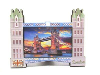 London Wood 2D Magnet Tower Bridge Souvenir Great Britain, New