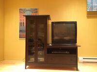 Meuble télévision brun
