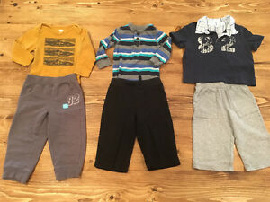 18 items-Cute Boy Shirts and Pants (6-12 months)