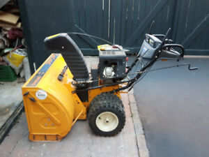 Snow thrower for sale.