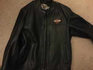 Harley-Davidson Black Leather Jacket (XL); worn only 4-5 times..