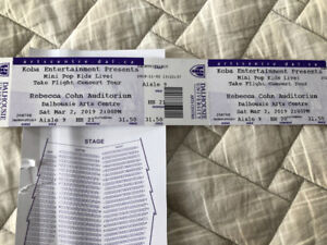 3 tickets to mini pops matinee March 2
