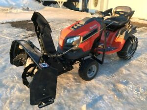Lawn and Garden tractor, mower and blower combo