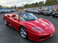 2003 FERRARI 360 SPIDER F1 Auto Rosso Corsa / Cream with 18,000 miles only
