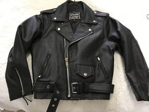 NEW childs size xl classic leather biker jacket